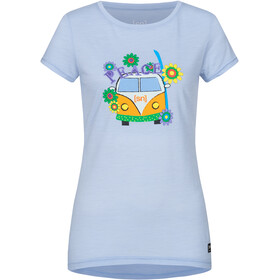 super.natural Printed T-shirt Dames, skyway/happy hippie